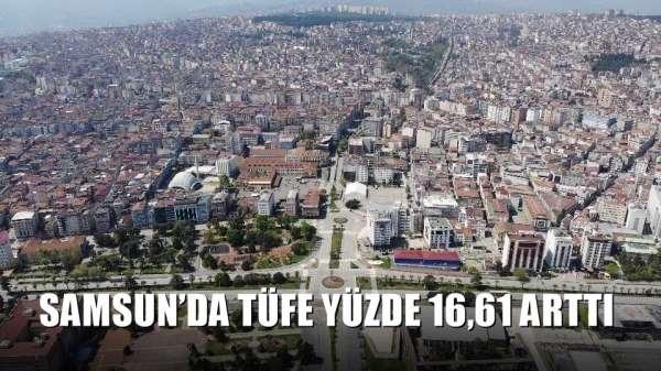 Samsun'da TÜFE yüzde 16,61 arttı
