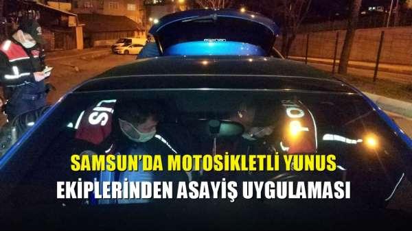Samsun'da motosikletli Yunus ekiplerinden asayiş uygulaması
