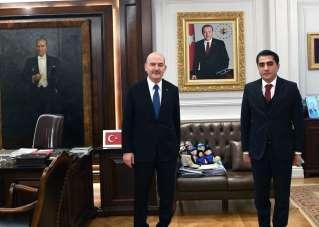 Gülşehir Belediye Başkanı Çiftçi, İçişleri Bakanı Soylu ile görüştü