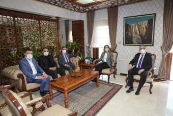 Belediye Başkanı Savran, Vali Becel'i ziyaret etti