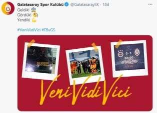 Galatasaray: 'Geldik! Gördük! Yendik!