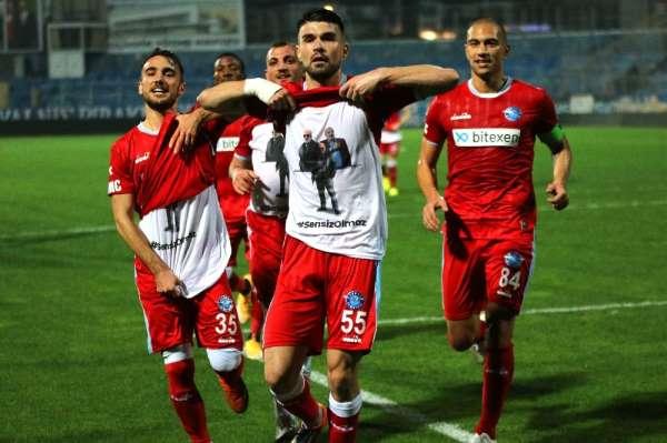 TFF 1. Lig: Adana Demirspor: 1 - Ankaraspor: 0 (İlk yarı)