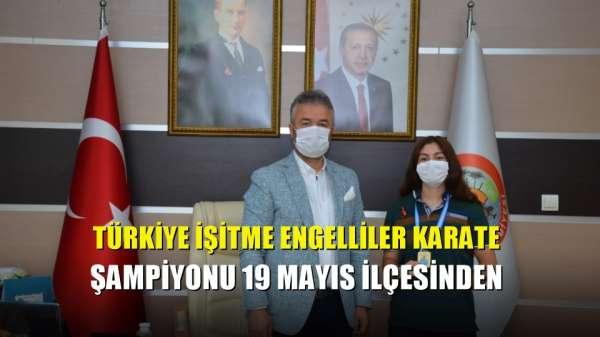 Türkiye İşitme Engelliler Karate Şampiyonu 19 Mayıs ilçesinden