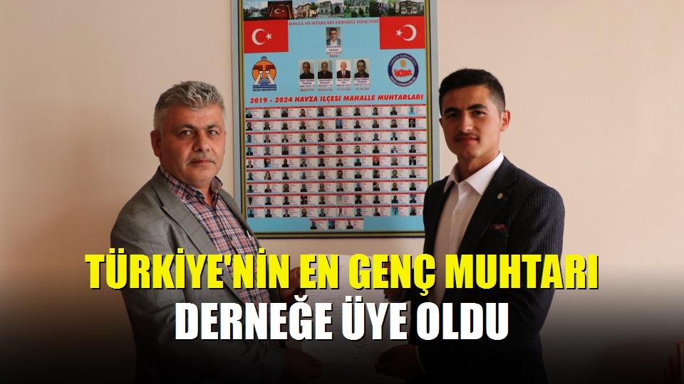 Türkiye'nin en genç muhtarı derneğe üye oldu
