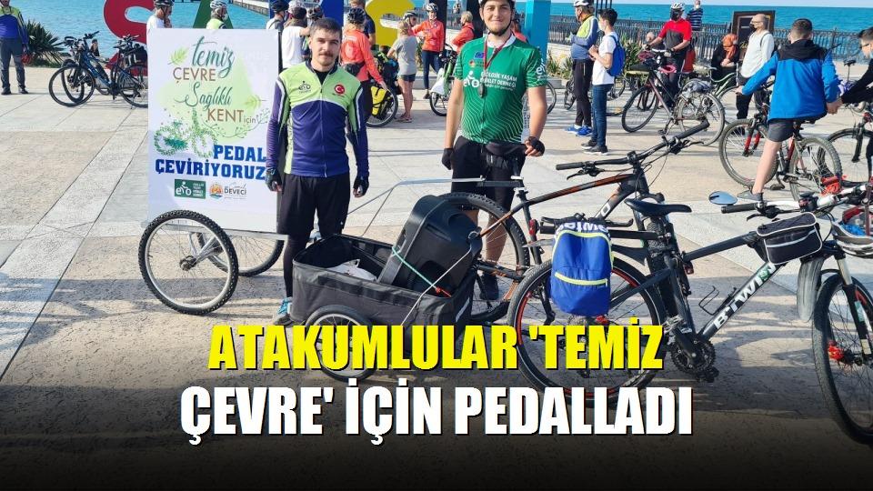 Atakumlular 'temiz çevre' için pedalladı