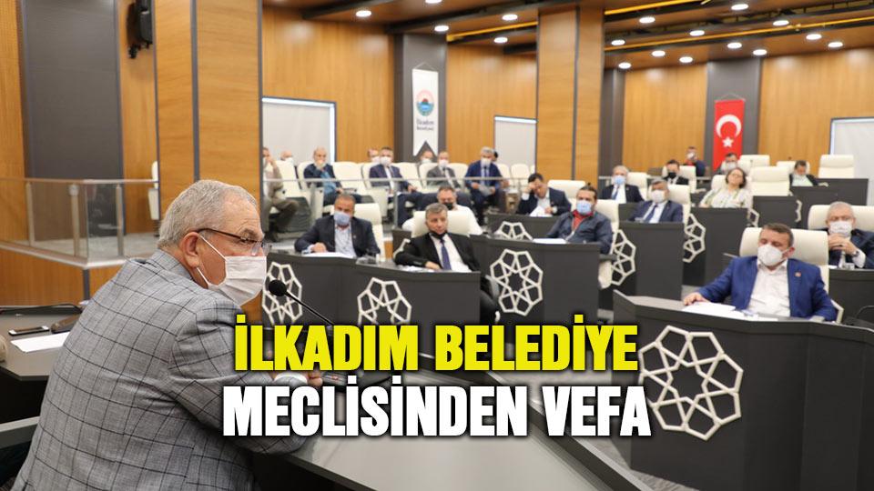 İlkadım Belediye Meclisinden vefa