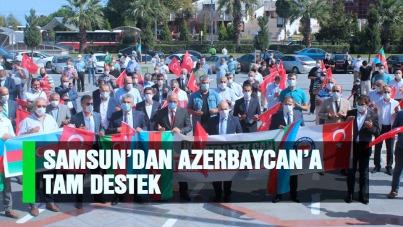 Samsun'dan Azerbaycan'a tam destek