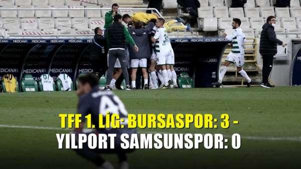 TFF 1. Lig: Bursaspor: 3 - Yılport Samsunspor: 0