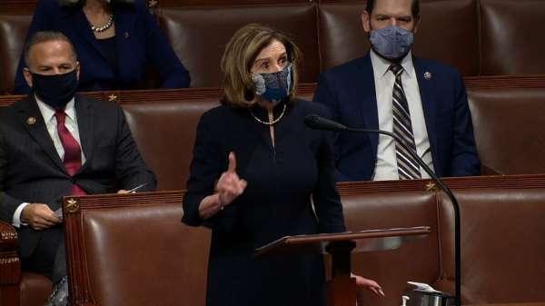 ABD Temsilciler Meclisi Başkanı Pelosi: 'Bu isyancılar yurtsever değildi, yerli