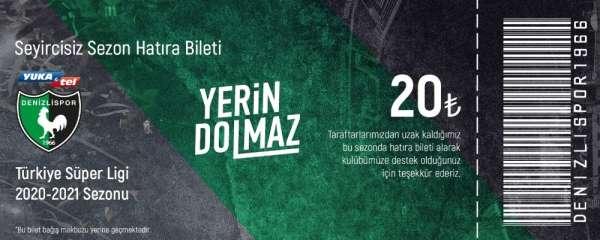 Denizlispor 'Sezonluk Hatıra Bilet' satışına başladı