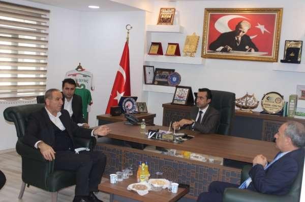 AK Parti Şırnak Milletvekili Birlik, Cizre TSO Başkanı Sevinç ile bir araya geld