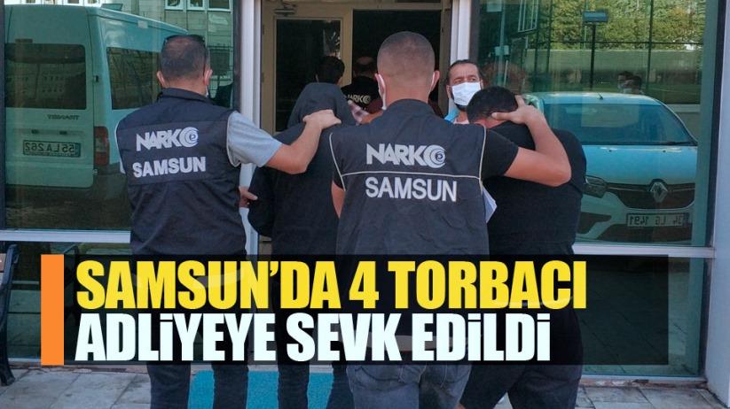 Samsun'da 4 torbacı adliyeye sevk edildi