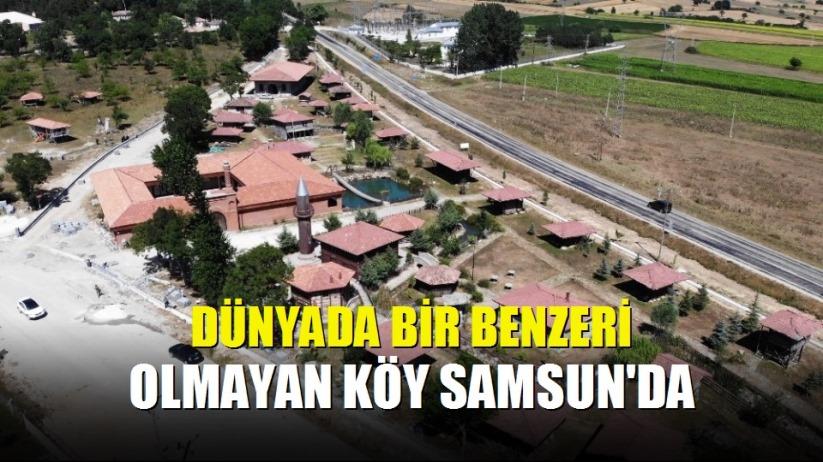 Dünyada bir benzeri olmayan köy Samsun'da