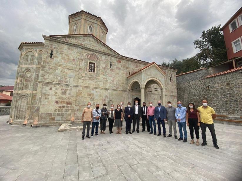 Sümela Manastırı'ndaki ayin için geldiler, orayı da ziyaret ettiler