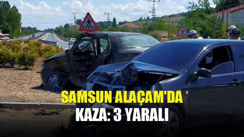 Alaçam'da kaza: 3 yaralı