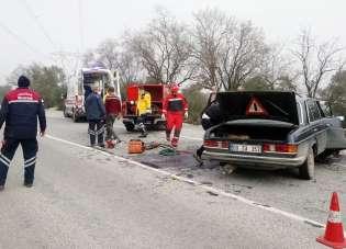 Yatağan'da sıkışmalı kaza