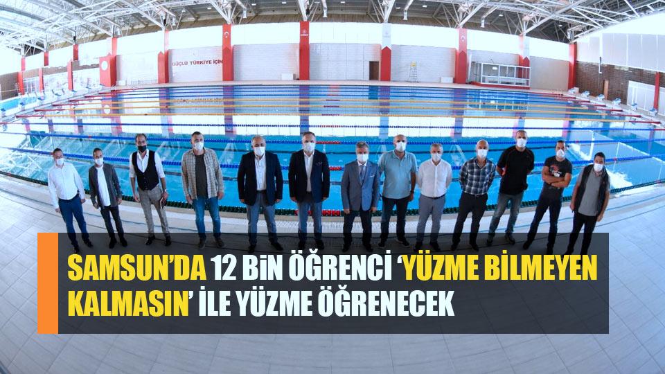 Samsun'da 12 bin öğrenci yüzme öğrenecek