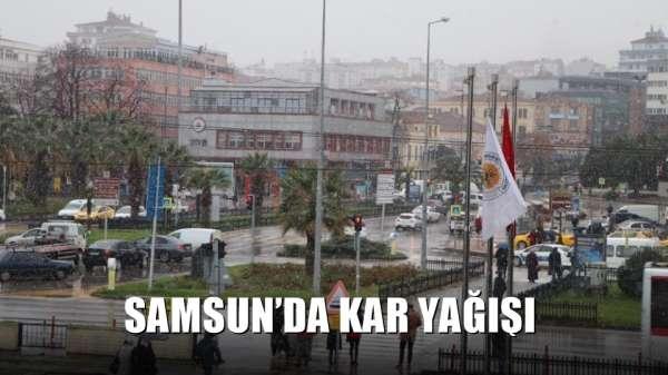 Samsun'da kar yağışı
