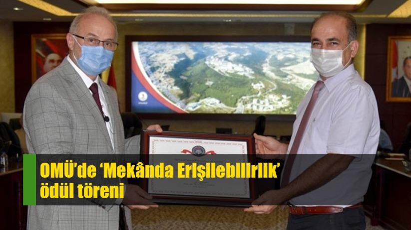 Samsun OMÜ'de 'Mekânda Erişilebilirlik' ödül töreni