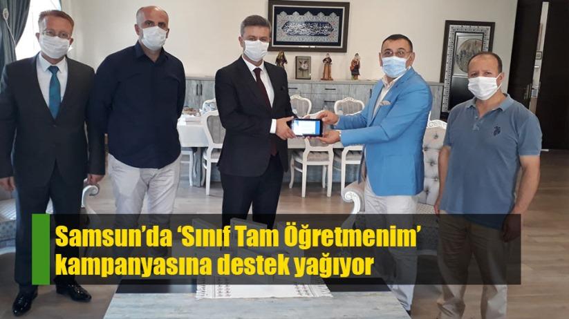 Samsun'da 'Sınıf Tam Öğretmenim' kampanyasına destek yağıyor