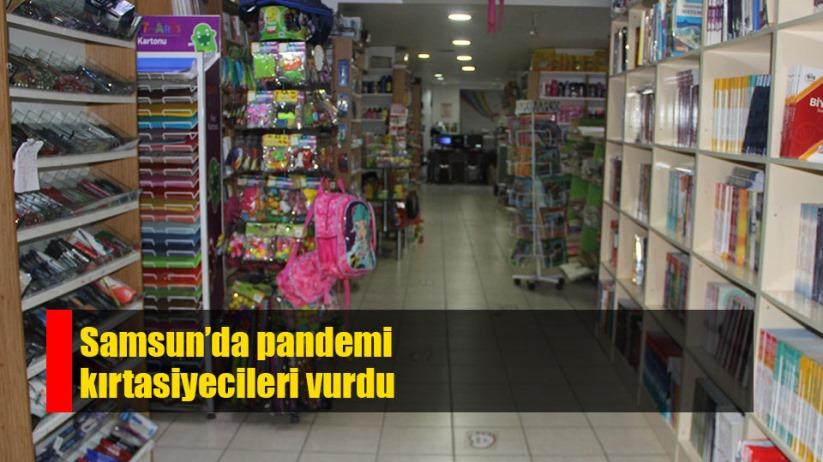 Samsun'da kırtasiyecileri pandemi vurdu
