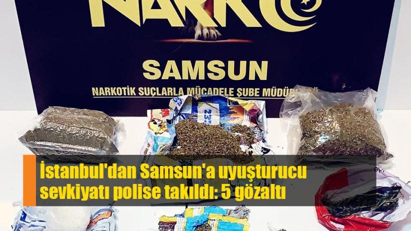 Samsun'a getirilen uyuşturucu polise yakalandı
