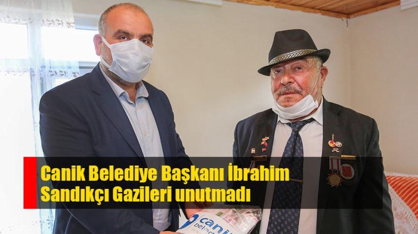 Canik Belediye Başkanı İbrahim Sandıkçı gazileri unutmadı