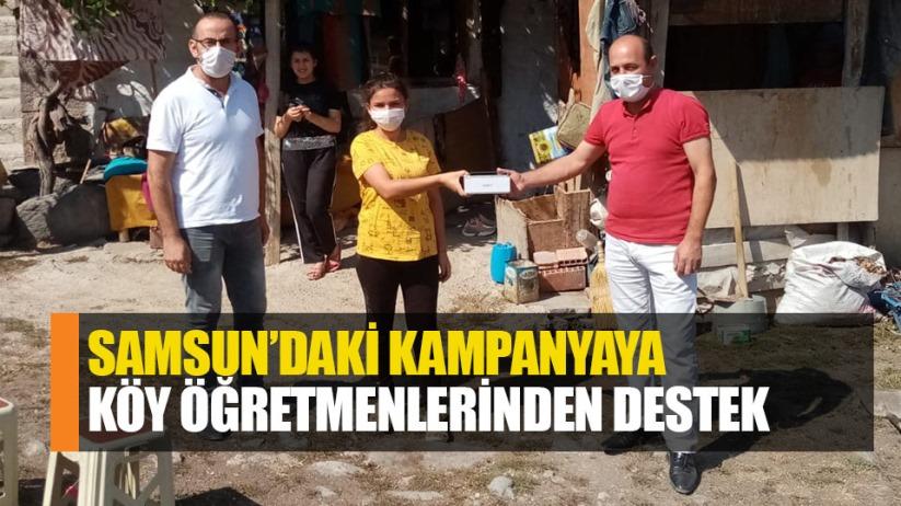 Samsun'daki kampanyaya köy öğretmenlerinden destek