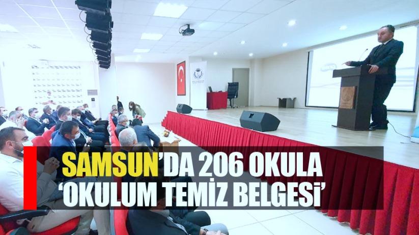 Samsun'da 206 okula 'Okulum Temiz Belgesi' verildi