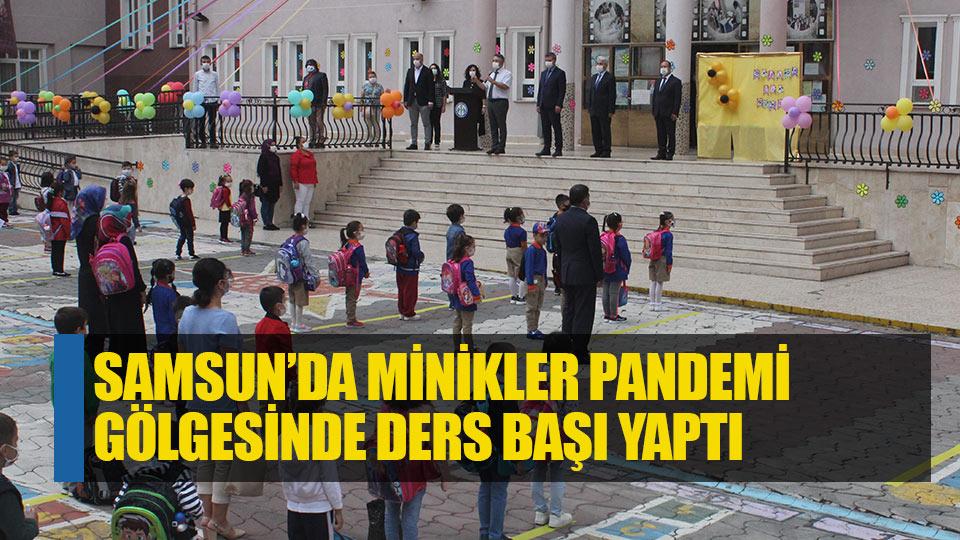 Samsun'da minikler pandemi gölgesinde ders başı yaptı