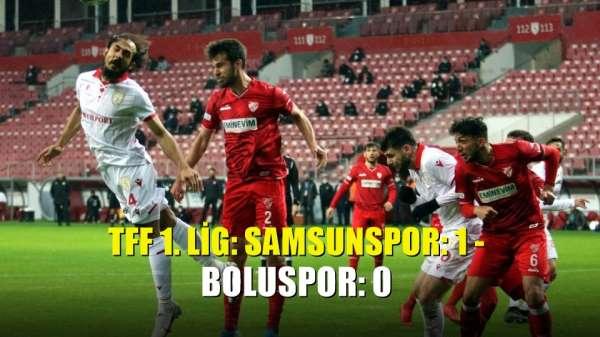 TFF 1. Lig: Samsunspor: 1 - Boluspor: 0
