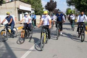 Van Büyükşehir Belediyesinden bisiklet turu