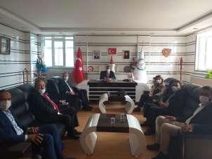 AK Parti heyeti Başkan Arif Teke'yi ziyaret etti