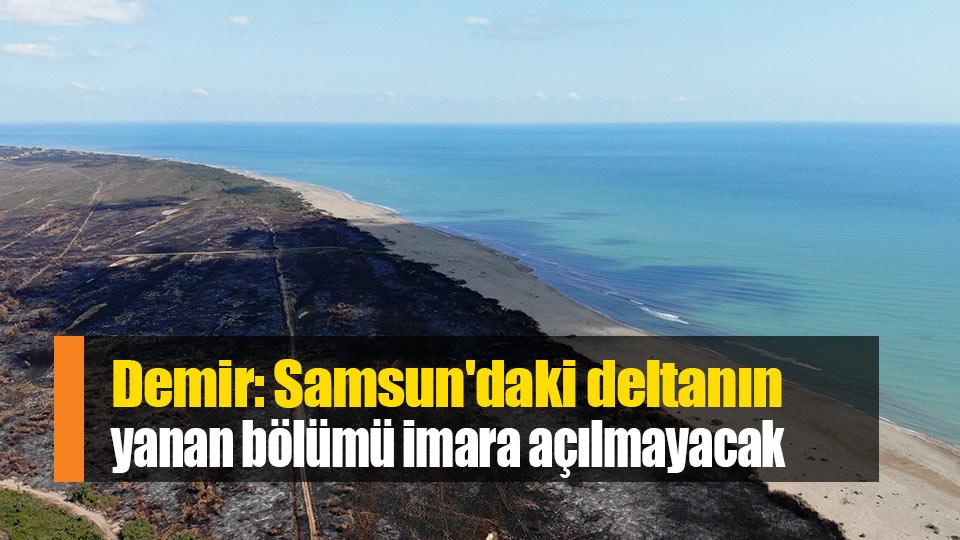 Demir: Samsun'daki deltanın yanan bölümü imara açılmayacak