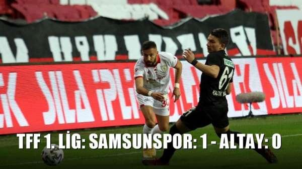 TFF 1. Lig: Samsunspor: 1 - Altay: 0