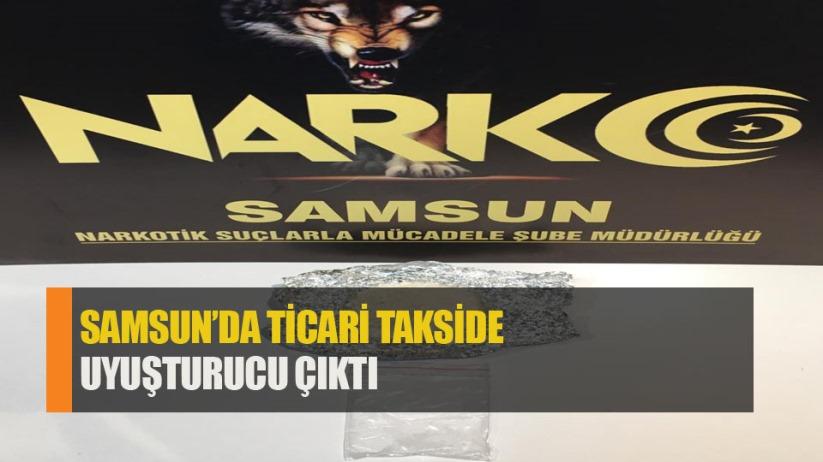 Samsun'da ticareti takside uyuşturucuyla yakalandı.