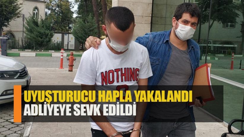 Samsun'da kovalamaca sonucunda yakalanan şahıs adliyeye sevk edildi