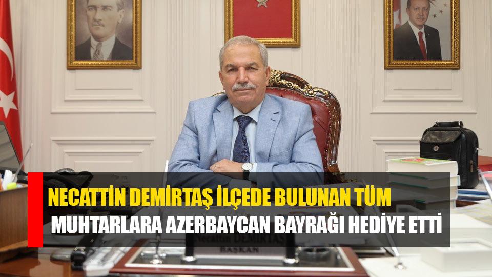 Samsun İlkadım Belediyesinden tüm muhtarlara Azerbaycan bayrağı
