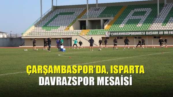 Çarşambaspor'da, Isparta Davrazspor mesaisi