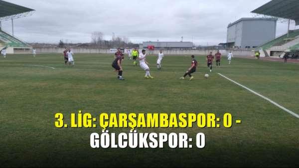 3 Lig: Çarşambaspor: 0 - Gölcükspor: 0