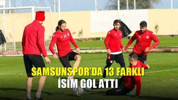 Samsunspor'da 13 farklı isim gol attı