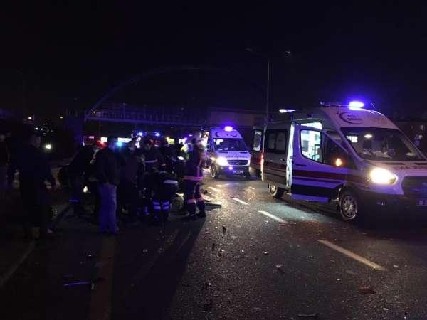 Ankara-İstanbul yolu Akköprü mevkiinde 3 aracın karıştığı trafik kazasında ilk b