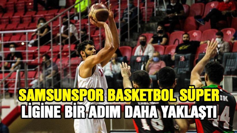 Samsunspor Basketbol Süper Lige bir adım daha yaklaştı
