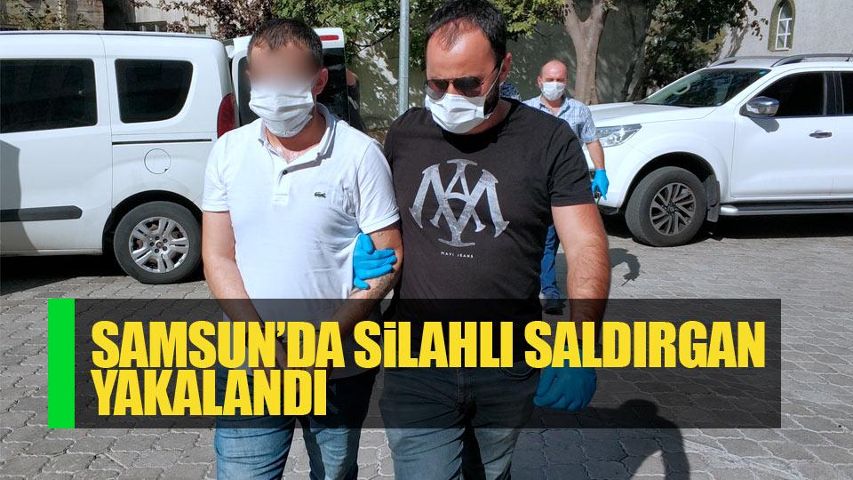 Samsun'da silahlı saldırgan yakalandı