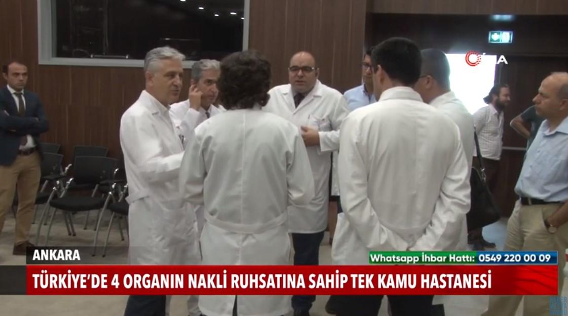 Türkiye'de 4 organ nakli ruhsatına sahip tek kamu hastanesi