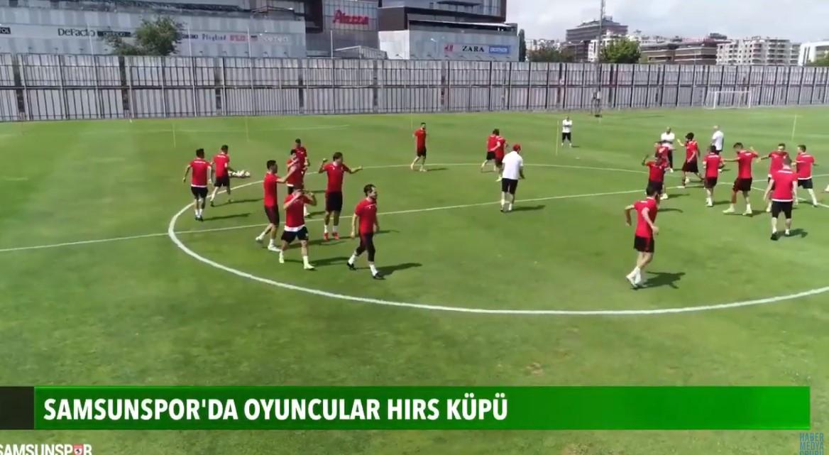 Samsunspor'da oyuncular hırs küpü